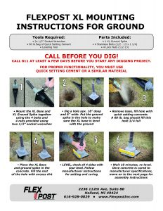 FlexPost XL - Natural Ground - Mounting Instructions