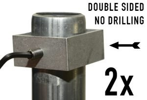 A Set of Double-Sided Sign Brackets - Included with Each XL or Standard FlexPost