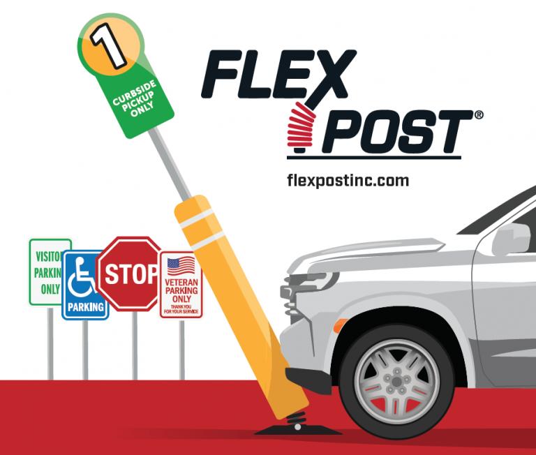 FlexPost Signposts and Bollard for Restaurant Parking Lots