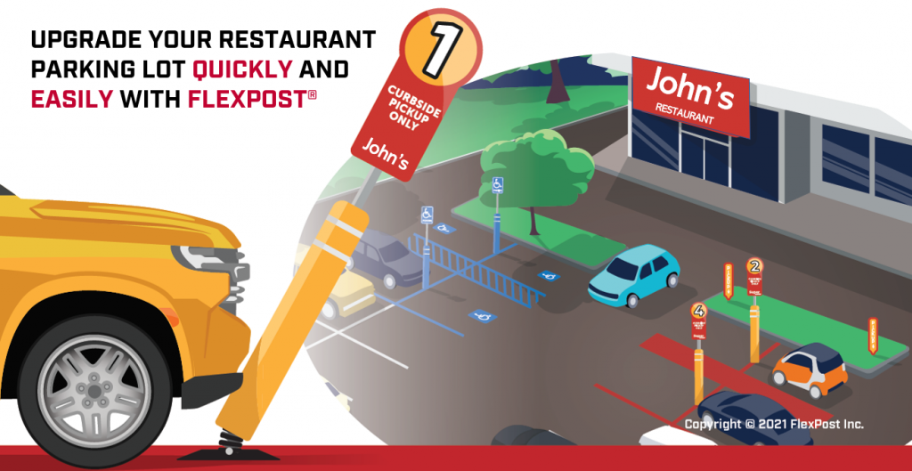 Upgrade Your Restaurant Parking Lot Quickly and Easily with FlexPost