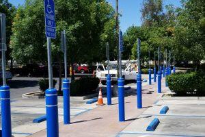 ADA Parking - Healthcare Installation Using FlexPost Flexible Sign Posts and Bollards