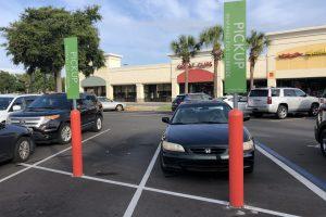 FlexPost FlexBollard with Signpost - Retail Grocery Store Installation